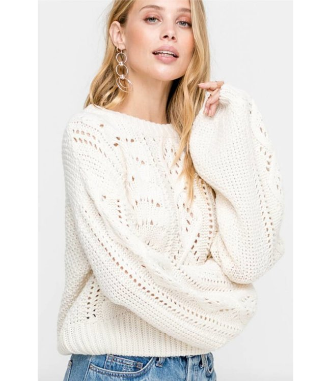 LSH Cable Sweater Top 13626