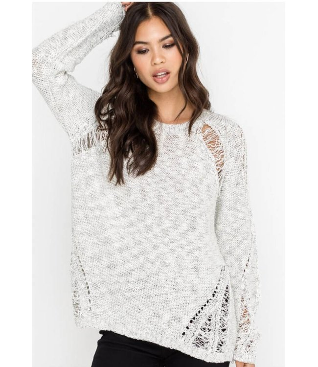 LSH Distressed Sweater 13026