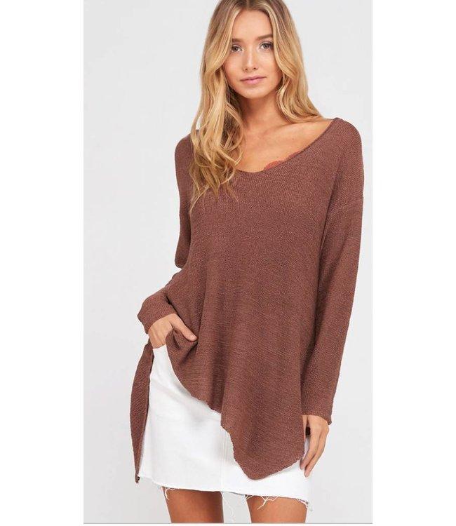 WL Asymmetrical Sweater Top 1185