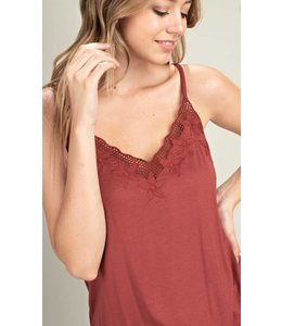MS Embroidered Front Camisole Knit Top 12137