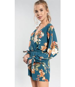 Everly Floral Romper 1110