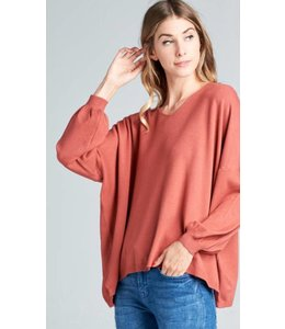 TR Lace Up Back Sweater 4227