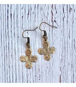 IDJ Hammered Cross Earring