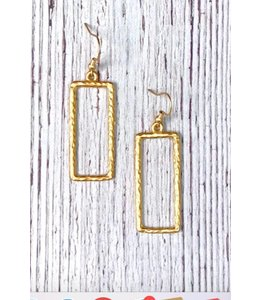 IDJ Hammered Rectangle Earring