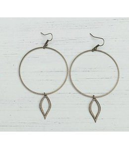 IDJ Open Leaf Earring