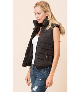 Shoe Shi Puffer Vest with Fur 8849