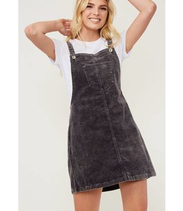 Shoe Shi Corduroy Skirt Overalls 26049
