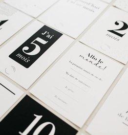 Parcelles Parcelles - Cartes souvenir bébé noir et blanc