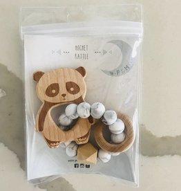 Pois & Moi Pois et Moi -  Hochet Panda Marbre