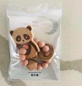 Pois & Moi Pois & Moi - Hochet Panda Rose antique