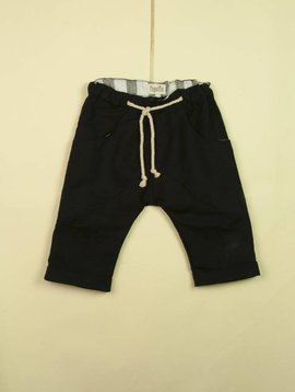 Popelin Black Bermuda Harem Shorts