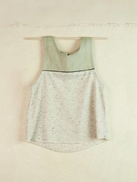 Popelin Grey Sleeveless Shirt
