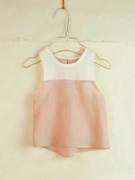 Popelin Pink Sleeveless Top