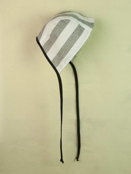 Popelin Reversible Striped Bonnet