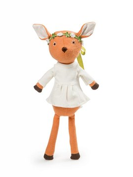 Hazel Village Phoebe Fawn In Tunic & Flower Crown