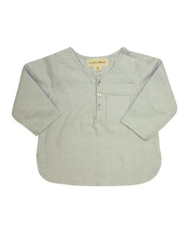 La Petite Collection Oxford Long Sleeve Light Grey