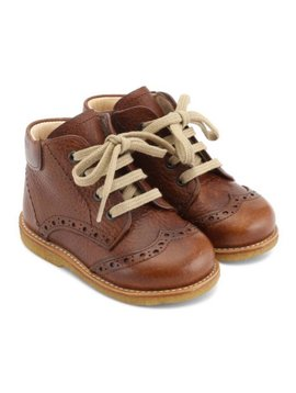 "Angulus ""First Steps"" Lace-Up Boot - Redbrown"