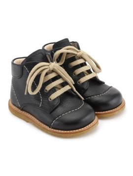 "Angulus ""First Step"" Lace-Up Boot - Black"