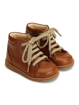 "Angulus ""First Steps"" Lace-Up Boot - Cognac"