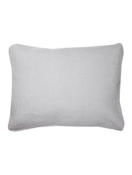 La Petite Collection Linen Baby Sham Grey Cloud
