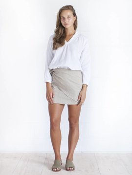 Yoli & Otis Edie Wrap Skirt - Natural