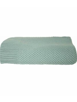 La Petite Collection Knitted Blanket Green Grey