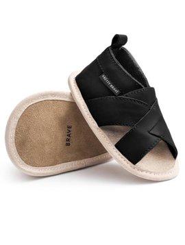Pretty Brave Cross-Over Sandal (Black)