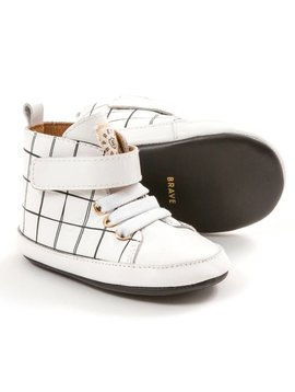 Pretty Brave Hi-Top - White Grid