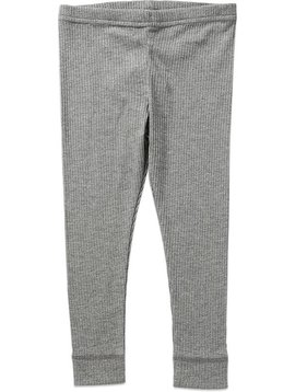 MarMar Copenhagen Ribbed Basic Leggings - Grey Melange
