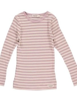 MarMar Copenhagen Ribbed Basic Longsleeve - Blush Stripes
