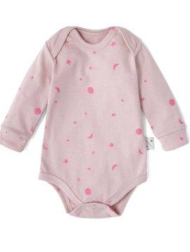 Sleepy Doe Organic Baby Bodysuit - Pink W/Neon Moons