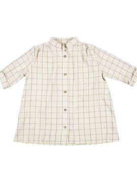 Rylee + Cru Check Botton Shirt Dress