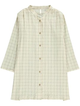Rylee + Cru Check Button Down Shirt Dress