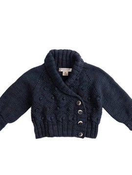 Misha and Puff Saltwater Bobble Cardigan - Midnight