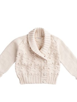 Misha and Puff Saltwater Bobble Cardigan - Natural