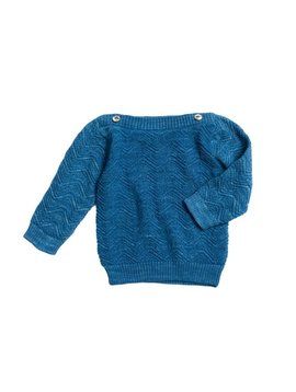 Misha and Puff Chevron Boatneck - Sky