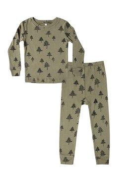 Rylee + Cru Trees Pajama Set - Organic