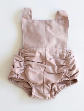Hubble + Duke Vintage Romper - Blush Linen