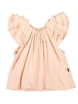 Hubble + Duke Ruffle Smock Top - Blush Gauze