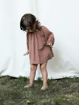 Soor Ploom Peasant Top - Henna Double Gauze