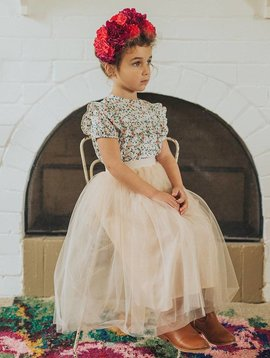 Aubrie Tea Length Tutu - Latte
