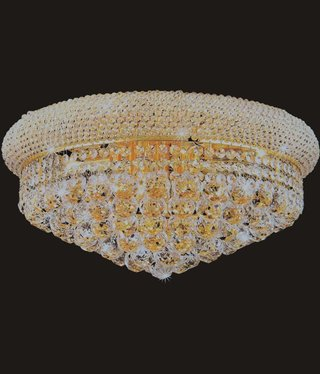 B&S Lighting 1006F-16X8 GOLD CHANDELIER FLUSH BAGEL STYLE (CB61)(FO117)