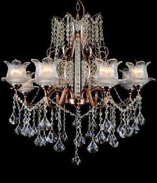 B&S Lighting B&S LIGHTING 5399/8 LIGHT W30XH33 INCH CRYSTAL CHANDELIER
