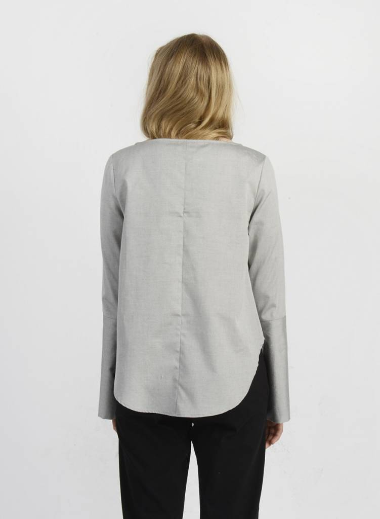 MiMi Frocks Slit Sleeve Shirt