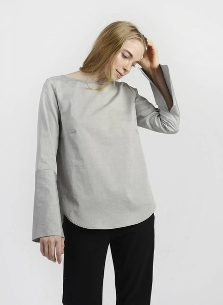MiMi Frocks Slit Sleeve Shirt