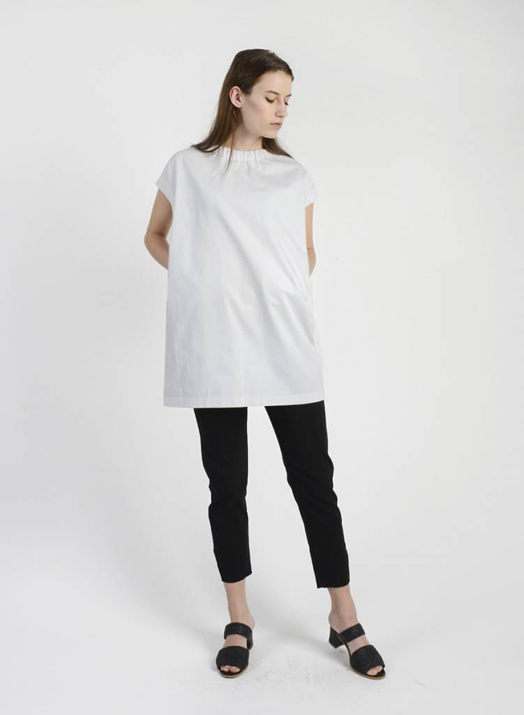 MiMi Frocks Elastic Neck Dress - White