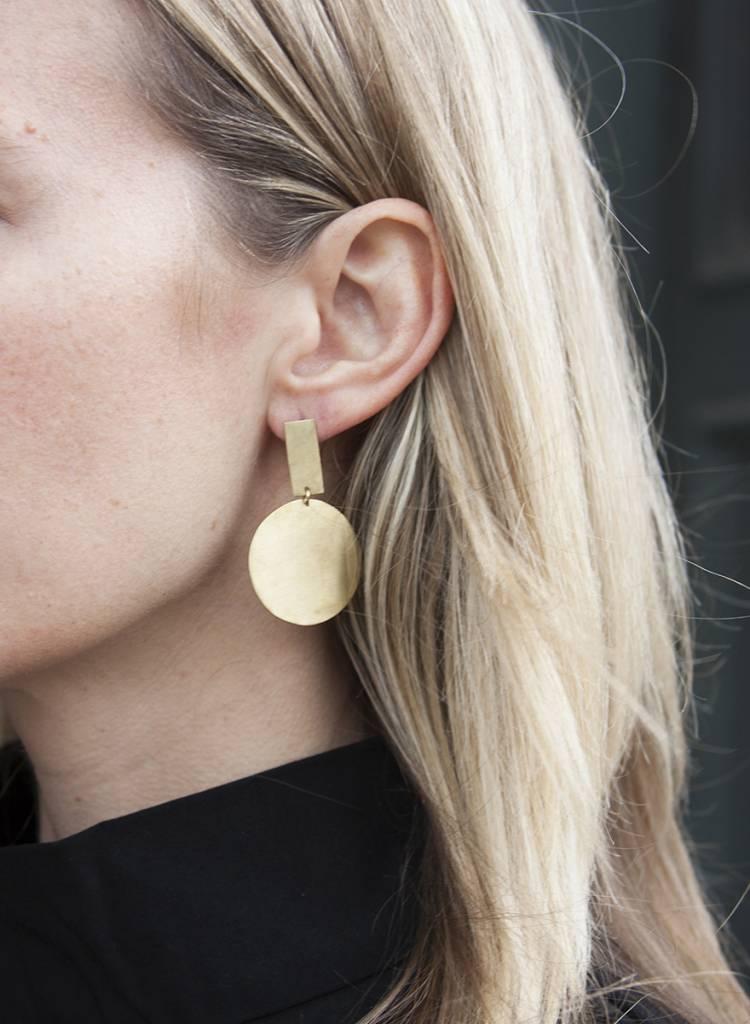 Soko Soko Moon Drop Earring