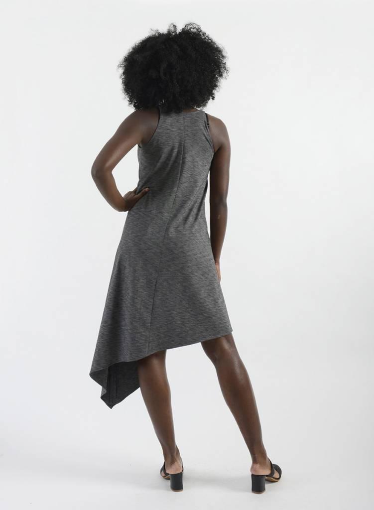V-Neck Asymm Dress
