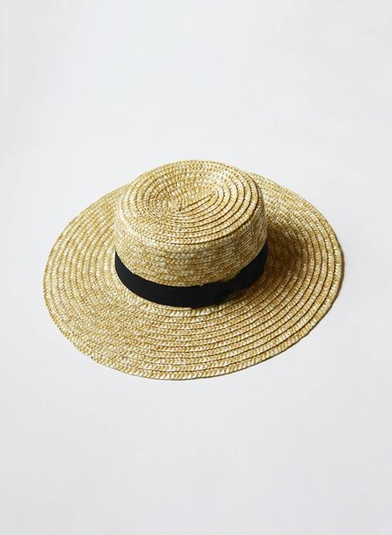 Wheat Straw Tan Summer Hat