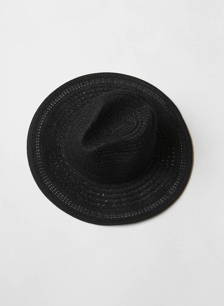 Open Braid Black Summer Hat